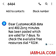 Zong Free Internet Packages Code 2020 [Unlimited Net] 2