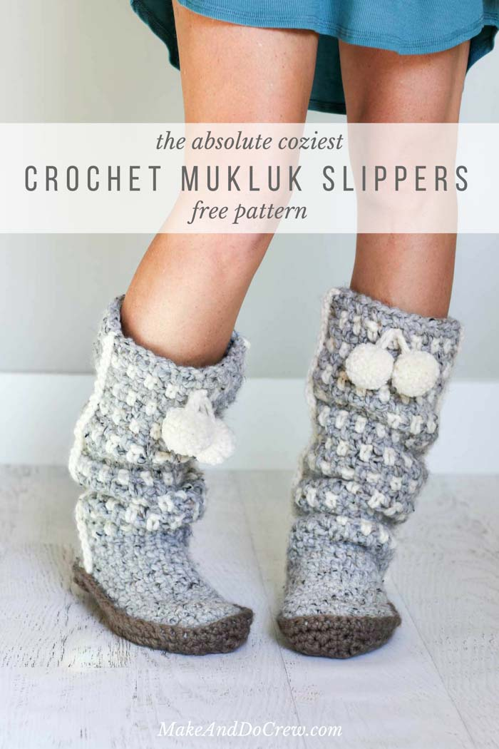 Sues Crochet And Knitting Crochet Mukluk Slippers