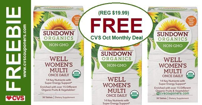 Sundown Organic Vitamin CVS Freebie Deal