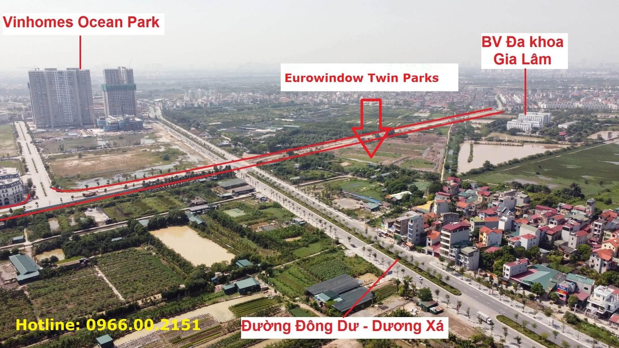 Vị trí tổng thể của Eurowindow Twin Parks nhìn từ trên cao.