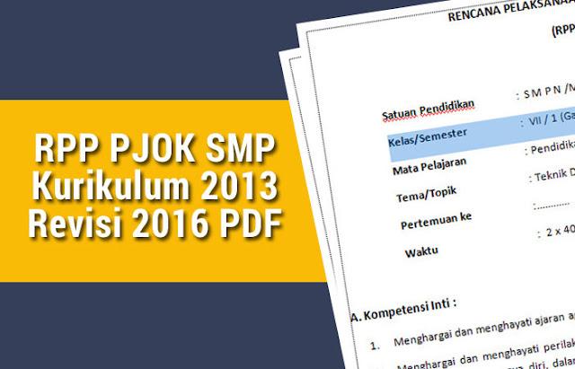 RPP PJOK SMP Kurikulum 2013 Revisi 2016 PDF