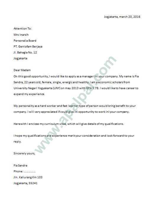 Simple 5 Contoh Surat Lamaran Bahasa Inggris Terbaru Dan Artinya