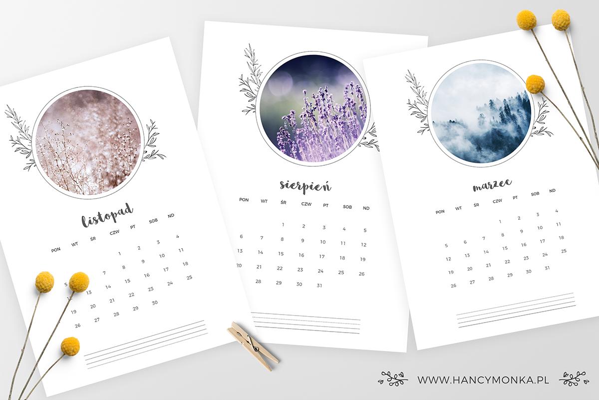 kalendarz 2018, calendar 2018, kalender 2018, nowy rok, kalendarz, do druku, free, freebie, hancymonka, do pobrania,