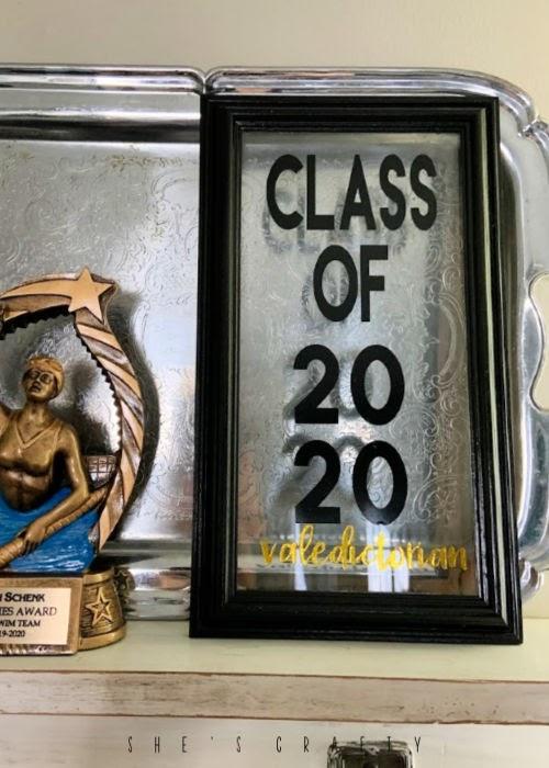 graduation display at home  -  class of 2020 vinyl art