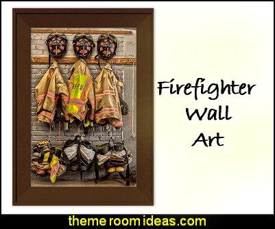 Firefighter Gear Print Firefighter Gear wall art Firefighter Gear firemen uniforms