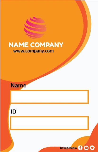 Download Name Tag Orange Keren Coreldraw Dan Illustrator Gratis