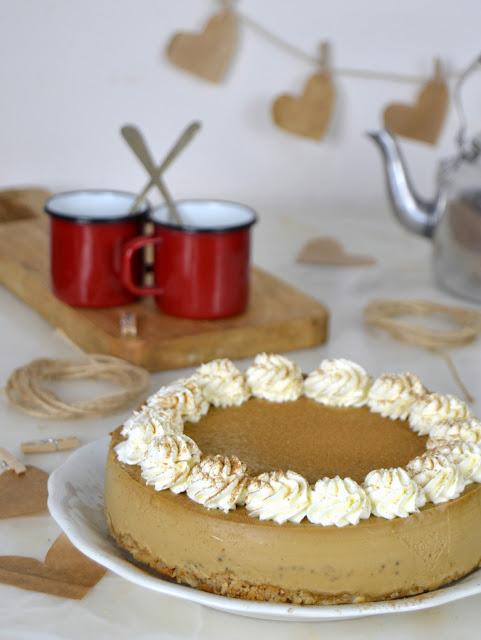 """Tarta de queso """"Café Capucccino""""."""