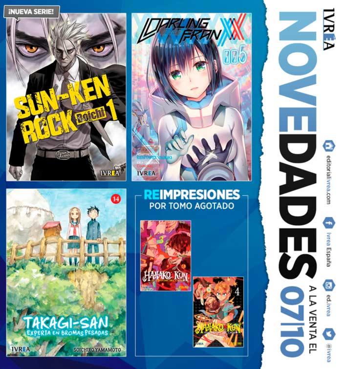 Novedades Ivrea 7 de octubre 2021 - manga