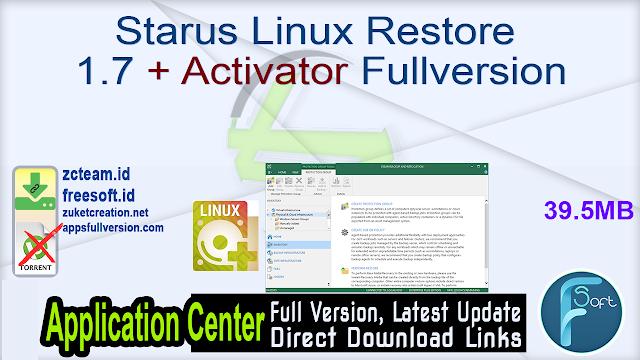 Starus Linux Restore 1.7 + Activator Fullversion