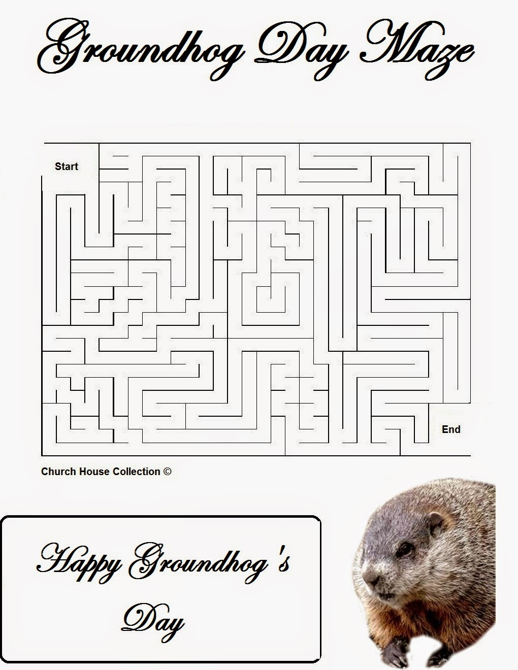 Groundhog Day activities for Preschool Goundhog day mazes – Groundhog Day Math Worksheets