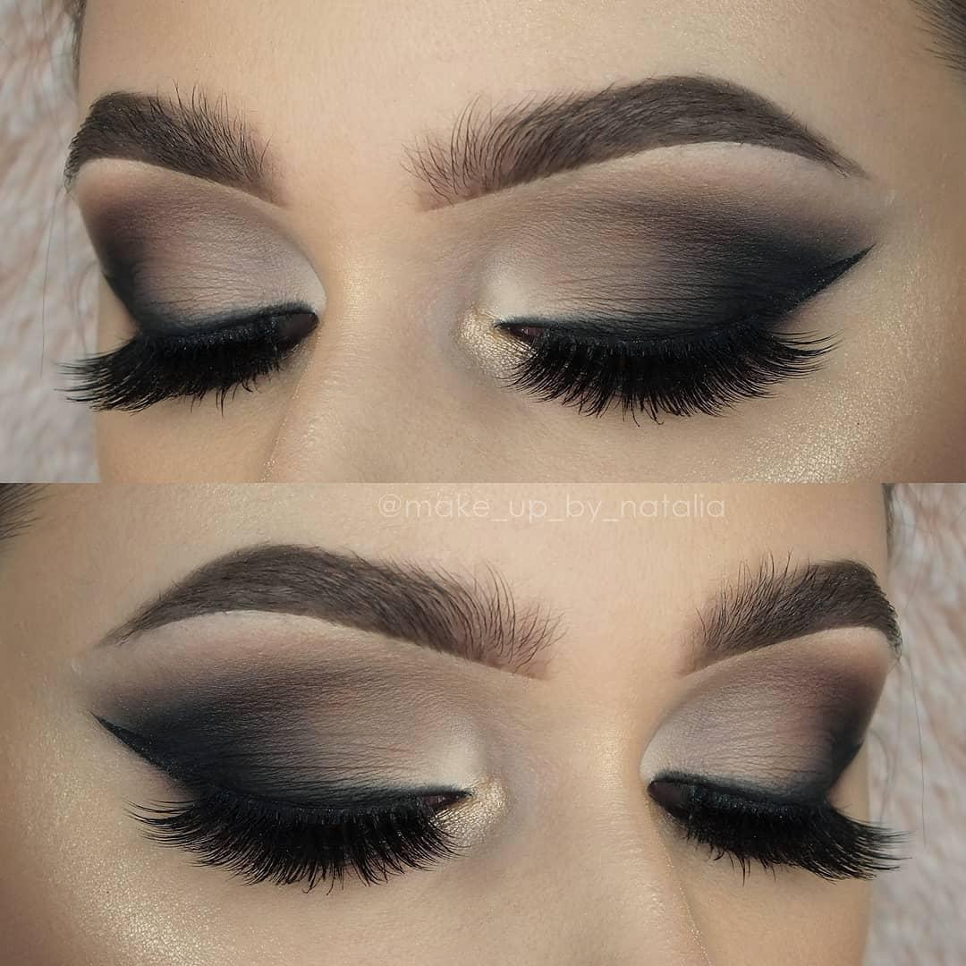 Maquiagem sombra marrom