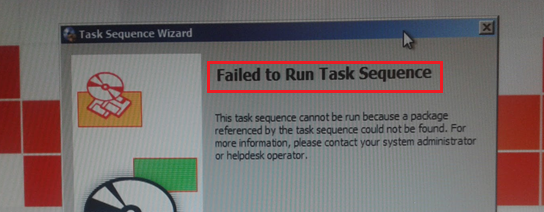 Techies Sphere: Failed to Run Task Sequence Error Coming in SCCM