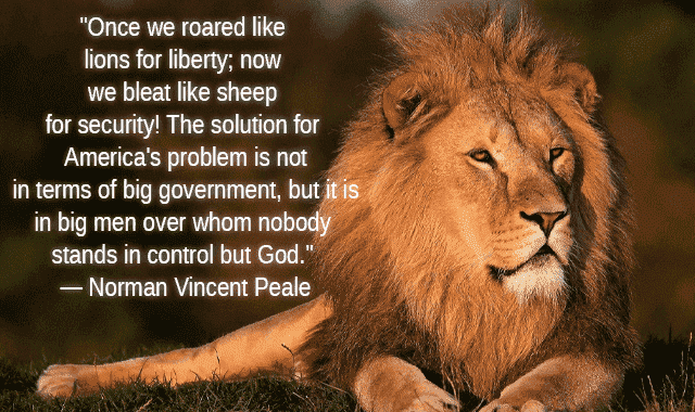 Lion and sheep quote