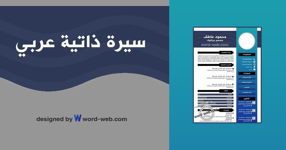 سيرة ذاتية Pdf قابلة للتعديل نموذج Cv عربي جاهز تحميل نماذج احترافية مجانا