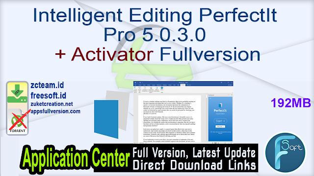 Intelligent Editing PerfectIt Pro 5.0.3.0 + Activator Fullversion