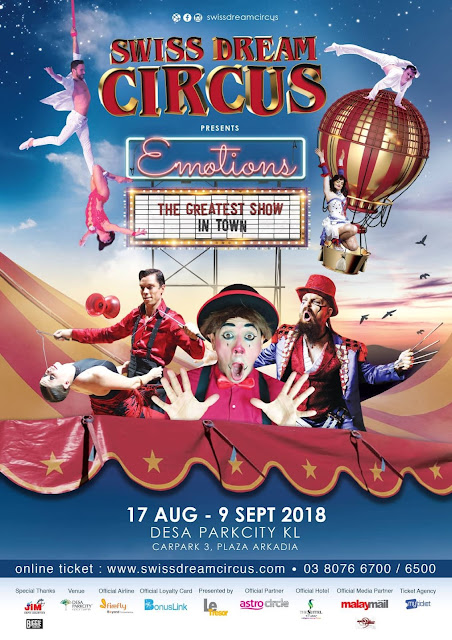 Swiss Dream Circus, Plaza Arkadia, Desa ParkCity