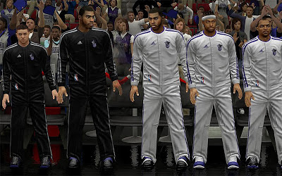NBA 2K13 Sacramento Kings Real Warmup Uniforms Patch