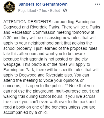 Shining a Light on Germantown: Park Commission Voting on