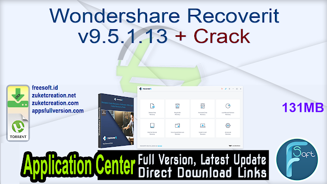 Wondershare Recoverit v9.5.1.13 + Crack