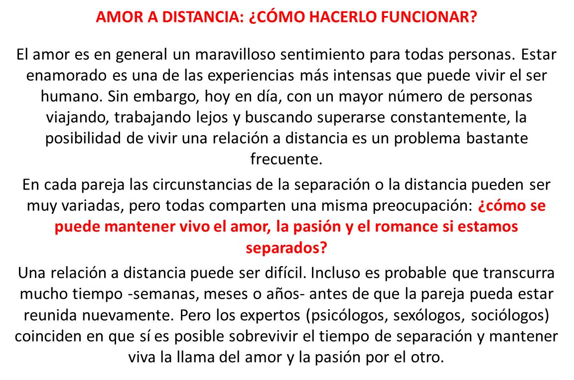 amor distancia % )
