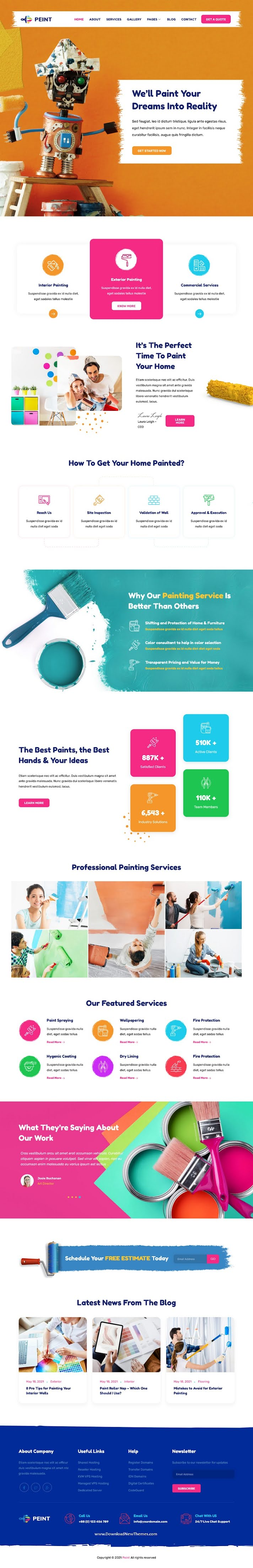 Painting Services Elementor Template Kit