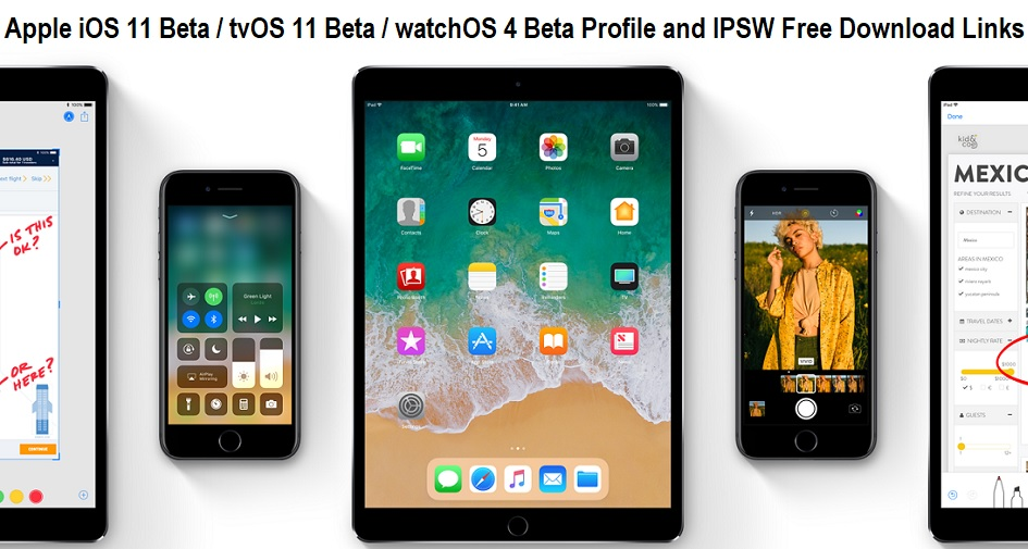 iOS 11 Beta Download Links
