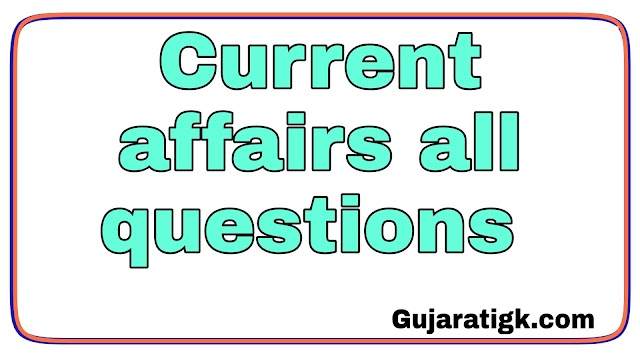 Current affairs all questions
