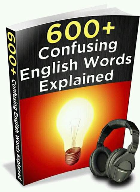 600+ English words explained