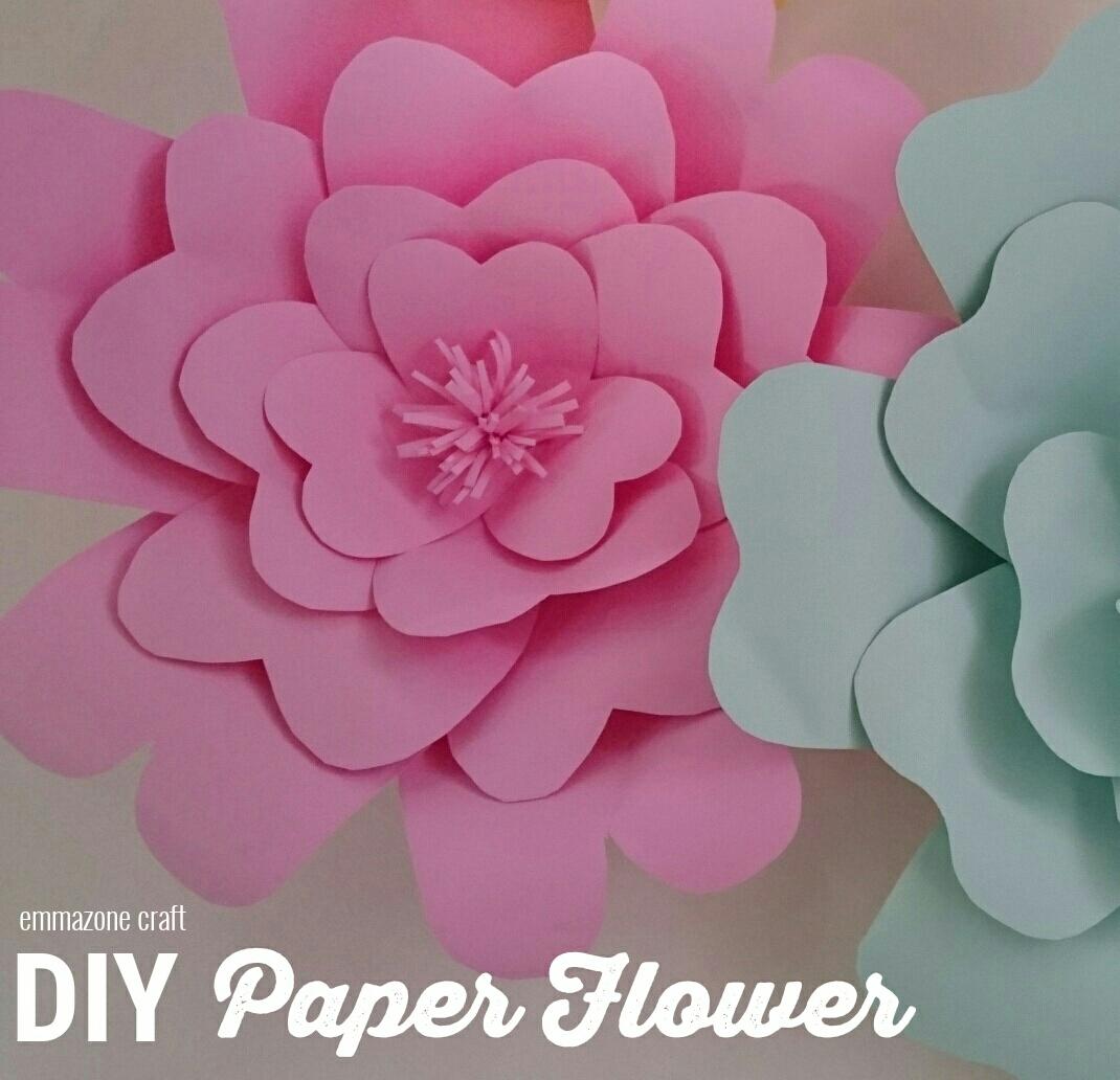 Emmazone Craft Diy Tutorial Paper Flower For Backdrop Cara membuat paper flower