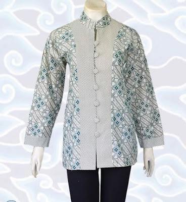 Contoh Model Baju Batik Atasan wanita gemuk
