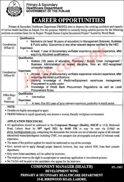 Primary & Secondary Healthcare Department GOVERNMENT OF THE PUNJAB
