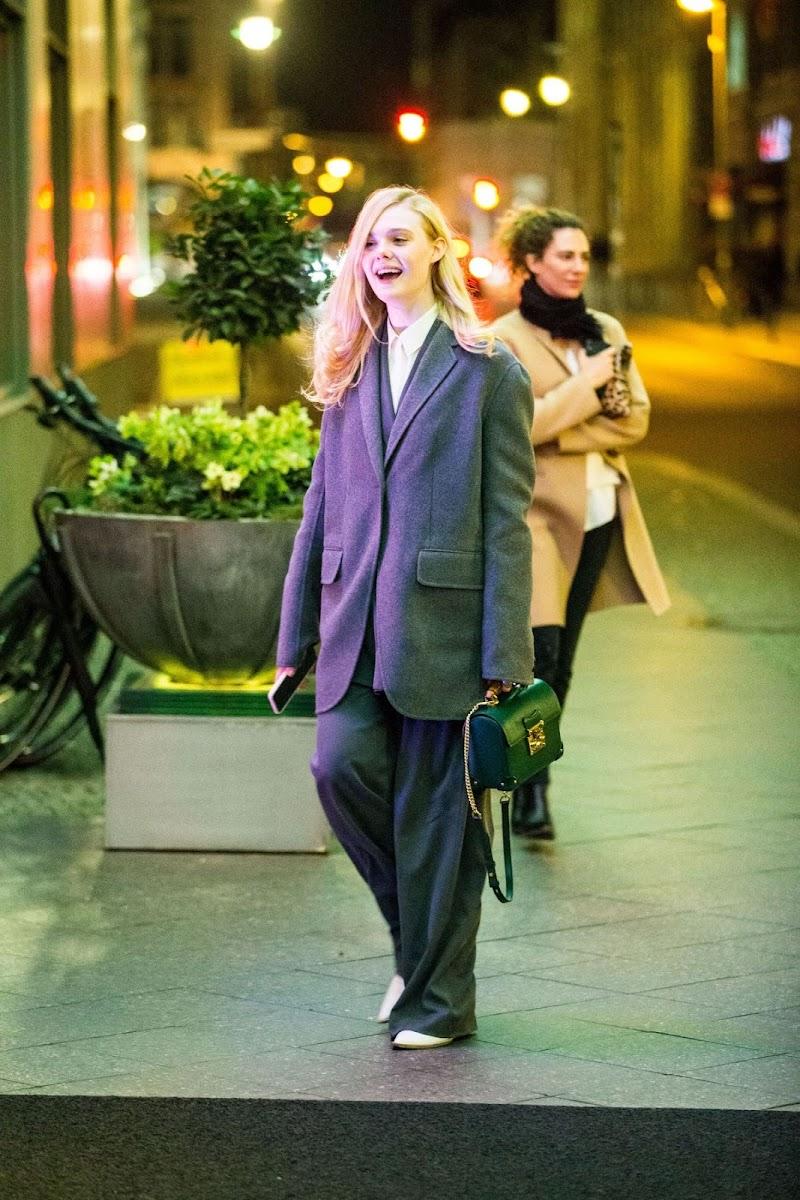 Elle Fanning CLicked Outside in Berlin 27 Feb-2020