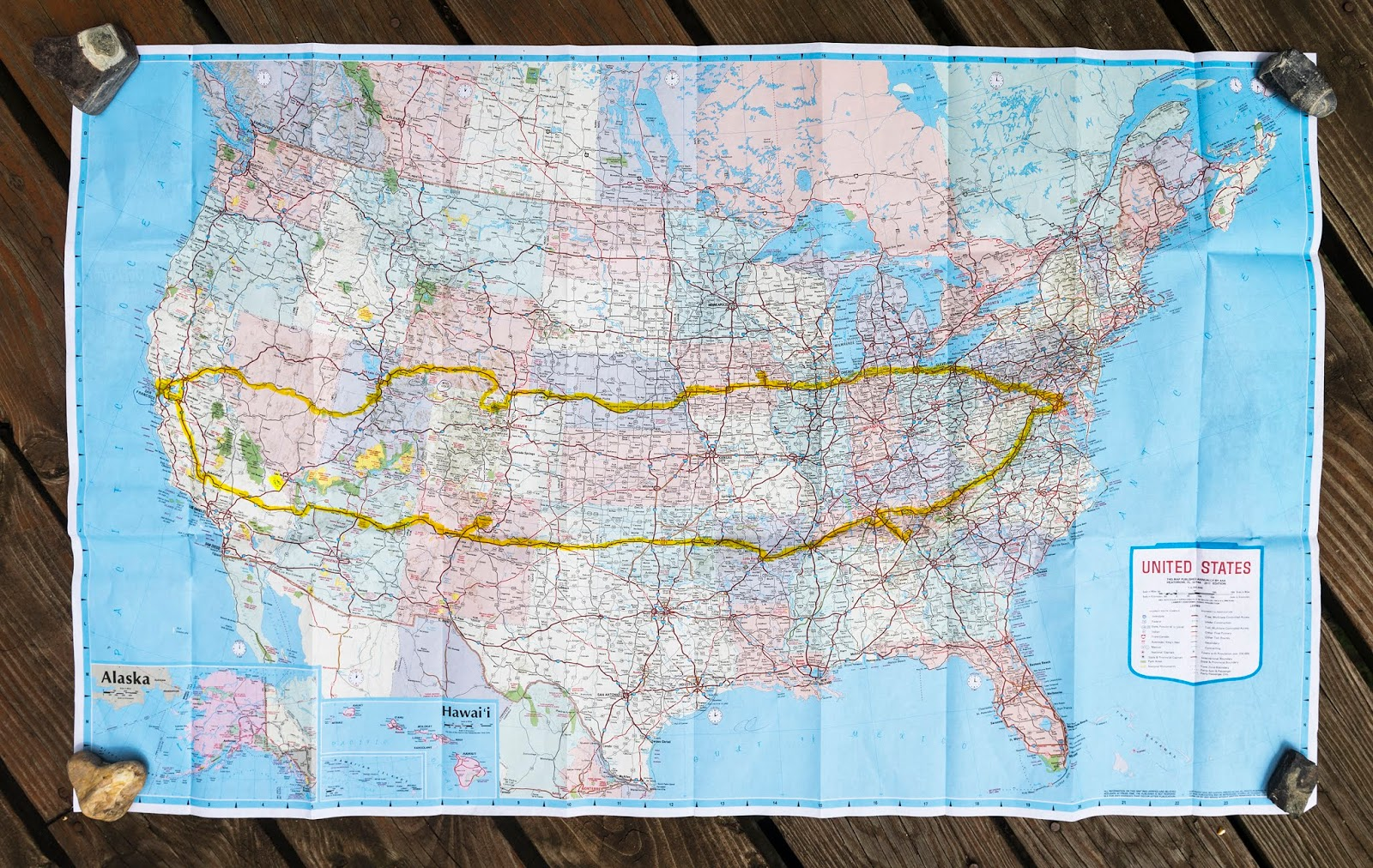 our route across america