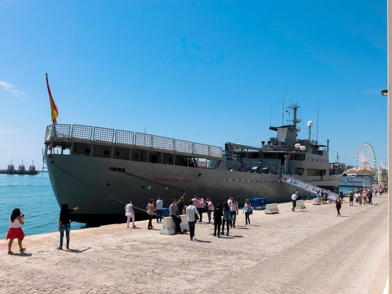 Buque Contramaestre Casado, Puerto de Málaga 2017