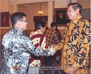 Formulator SOMAN 1 David Andi Purnama bersama Presiden SBY