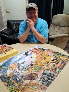 man with desert scene jigsaw puzzle