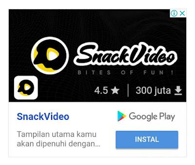 Daftar SnackVideo Gratis