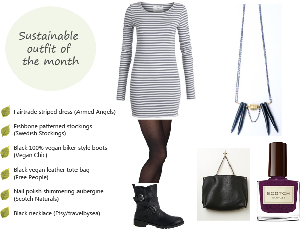 Sustainable outfit of the month (February 2015) - winter edgy chic