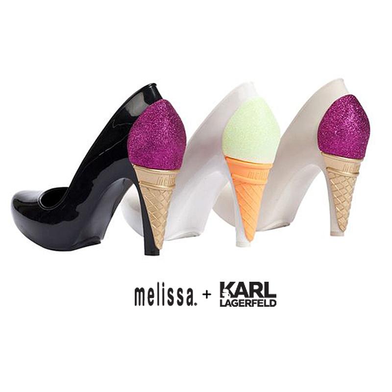 Karl Lagerfeld X Melissa Ice Cream Heels