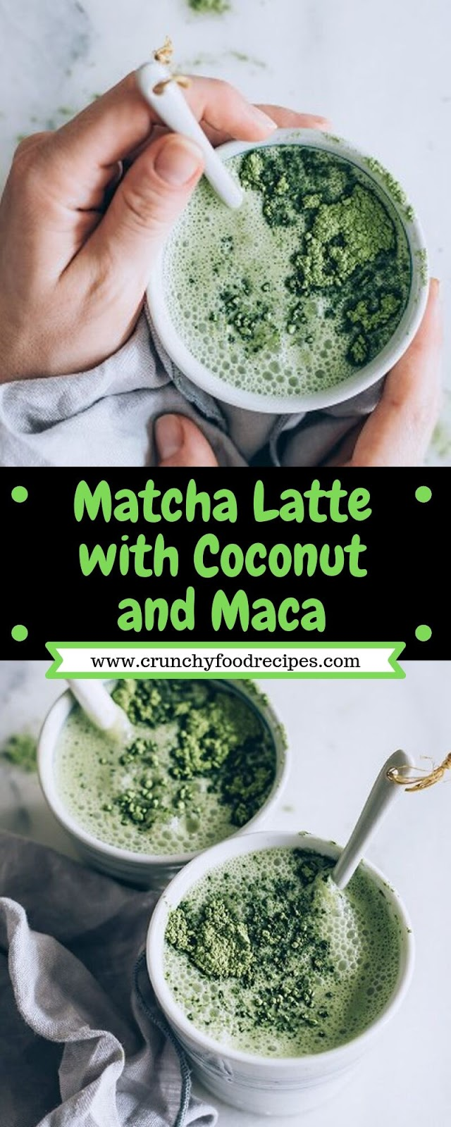 Matcha Latte with Coconut and Maca
