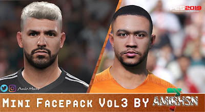 PES 2019 Mini Facepack Vol 3 by Amir.Hsn7