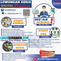 Karir Surabaya di Imarah Printing Terbaru Maret 2020