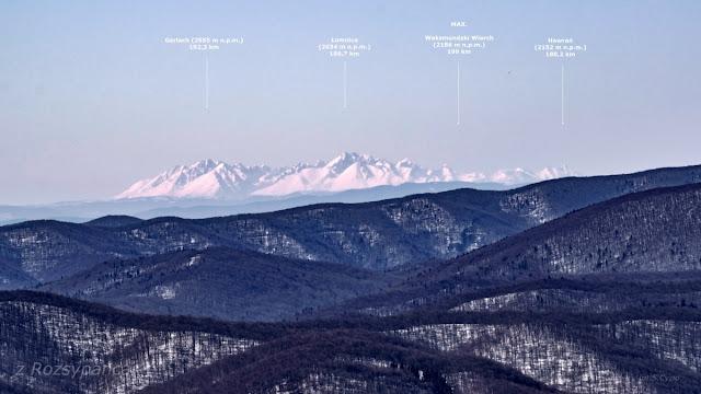 Widok na Tatry z Rozsypańca  fot. S.Cyzio 199 km