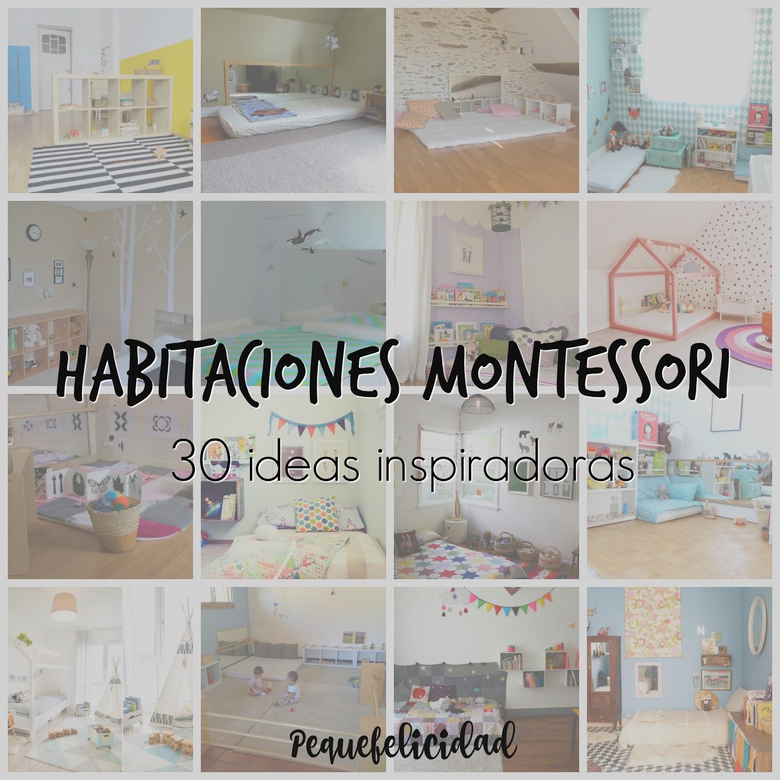 Pequefelicidad habitaciones montessori 30 ideas inspiradoras - Habitacion nina 2 anos ...