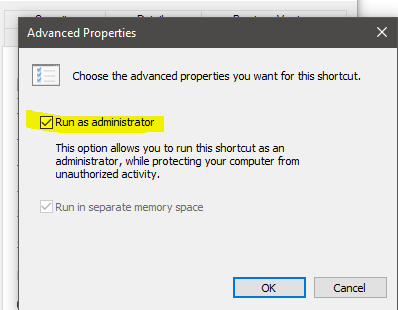 Cara agar aplikasi selalu Run As Administrator