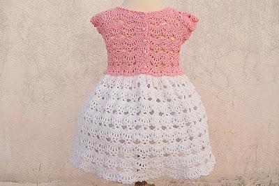 1 - Crochet Imagen Falda a crochet y ganchillo canesú rosa por Majovel Crochet