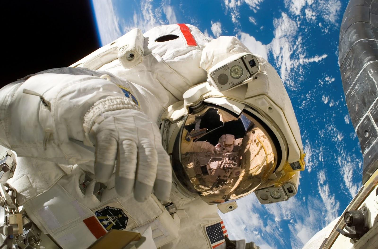 Astronaut, Earth, Space Station, Orbit, HD