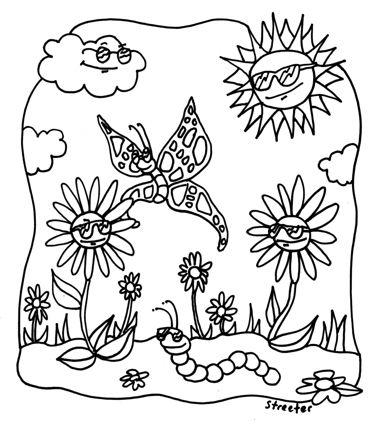 sunshine coloring pages printable cooloring com