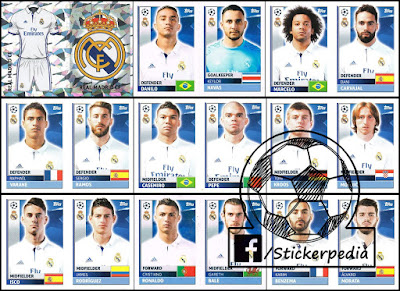 Champions League topps football stickers real madrid 2016/17