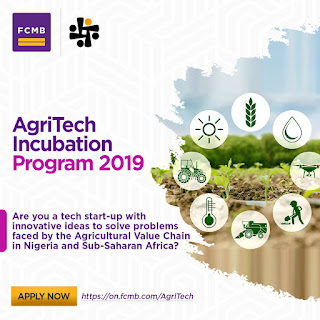 FCMB Wennovation AgriTech Incubation Program 2019 | N3 Million Grants